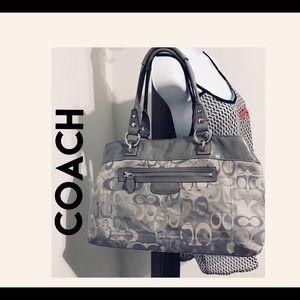 COACH SATCHEL BAG FABRIC E1093-F15122